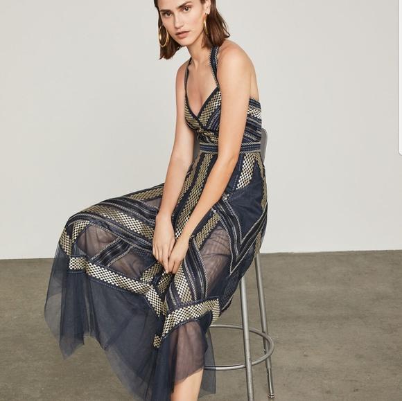 9a38a94b7ead BCBGMaxAzria Dresses   Metallic Striped Handkerchief Dress   Poshmark